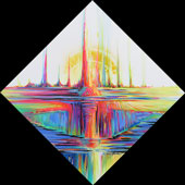 Reflective dome with vibrational color spikes